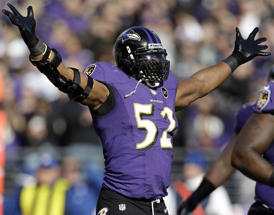 PHOTOS Ray Lewis In His Last Home Game As A Baltimore Raven